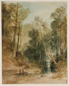 Brook and Trees circa 1806-7 by Joseph Mallord William Turner 1775-1851